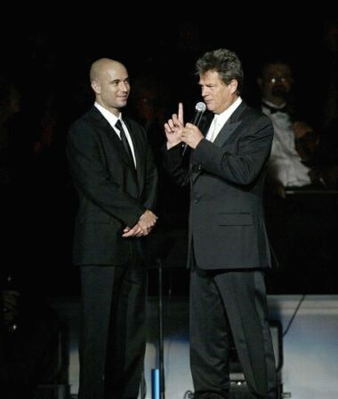 David Foster and Andre Agassi