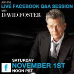 Join David for a live Facebook Q&A session this Saturday, November 1st at Noon PST!